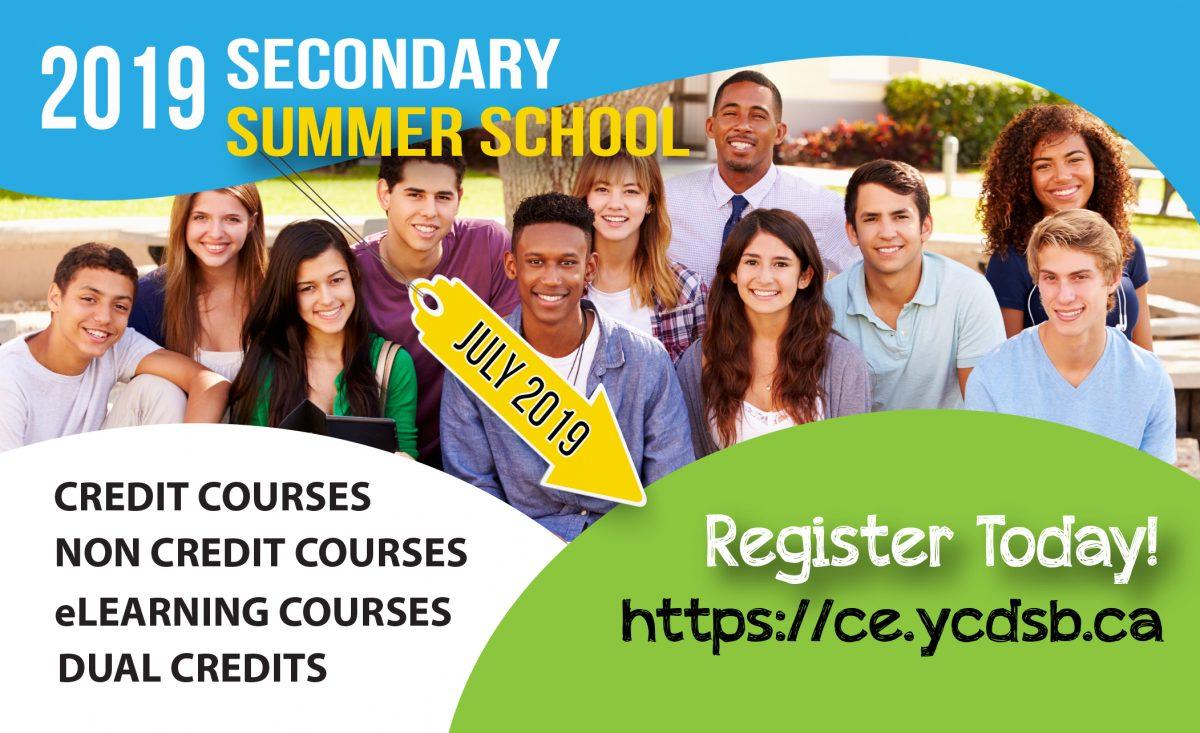 Secondary Summer School – Registration Online