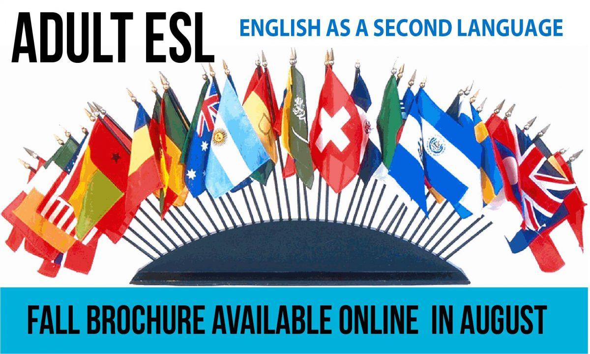 Adult ESL Fall Brochure