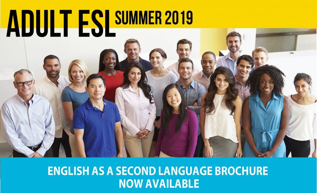 Adult ESL Summer Brochure